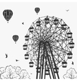 Ferris wheel at an amusement park vector image vector image