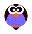 flat design owl cartoon icon vector image