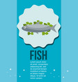 fresh fish and salad healthy food vector image vector image