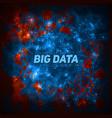 futuristic big data visualization cybernetic vector image vector image