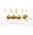 Golden balls 2017 vector image vector image