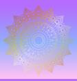 golden mandala design on pastel gradient vector image vector image