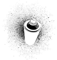 graffiti cross spray design element in white black vector image