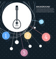 guitar music instrument icon with the background vector image vector image