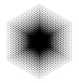 Halftone design elements hexagon vector image vector image