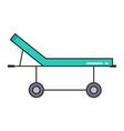 hospital gurney simple medicine icon in trendy vector image