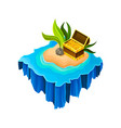 isometric sandy island surrounded by blue water vector image