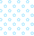 light blue flowers seamless pattern fabric texture vector image vector image