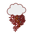 line color cloud with bright stars rainbow in the vector image vector image