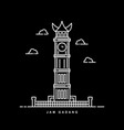 monument building in padang indonesia outline vector image vector image