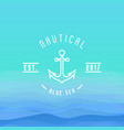 nautical logo with thin line anchor for yacht club vector image vector image