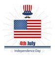 on day of independence day july fourth vector image vector image
