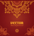 ornamental arabesque lace background vector image