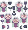 owls abstract seamless pattern it is located in vector image