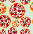 Pizza Italy seamless pattern background food vector image vector image