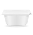 plastic container of yogurt 04 vector image vector image