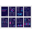 Purple business A4 brochures with infographic vector image vector image