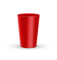 Red plastic glass vector image vector image