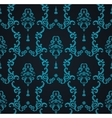seamless blue pattern with art ornament vector image vector image