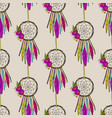 seamless pattern with dreamcatchers vector image