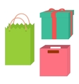 Set of empty boxes and packages vector image