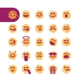 Set of spotty emoji emoticons vector image vector image