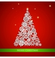 Snowflakes Christmas tree vector image