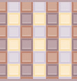 square colored glass mozaic cream tile seamless vector image