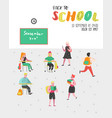 students and pupils characters set back to school vector image vector image