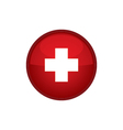 Switzerland Flag button vector image