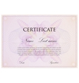 template design of certificate with guilloche vector image
