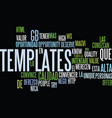 templates de alta calidad text background word vector image vector image
