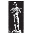 the florentine singer playing an old guitar in vector image vector image
