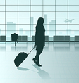 traveling girl vector image