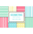tribal texture set of colorful stripes vector image