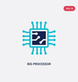 two color big processor icon from hardware vector image vector image