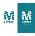 unique letter m logo design template vector image vector image