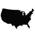 usa map outline vector image