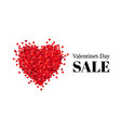 valentines day poster white background vector image vector image