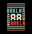 vintage brooklyn print vector image vector image
