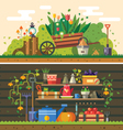 Work in the garden vector image
