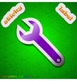 Wrench key icon sign Symbol chic colored sticky vector image