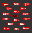 16 red and white plus 1 black friday promocios vector image
