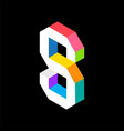 3d colorful letter s logo icon design template vector image