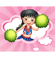 A cloud with a pretty cheerdancer vector image vector image