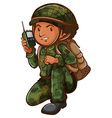 A simple sketch of a brave soldier vector image vector image