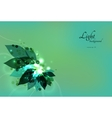 abstract green eco background with leaves vector image vector image
