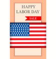 america labor day sale concept background vector image vector image