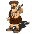 Ancient man happy humour hunter vector image vector image