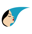 Beautiful woman in a droplet vector image vector image
